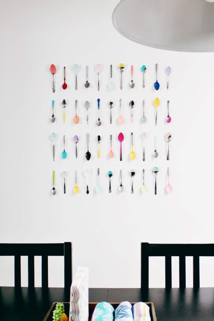 Collage de cuillère bricolage