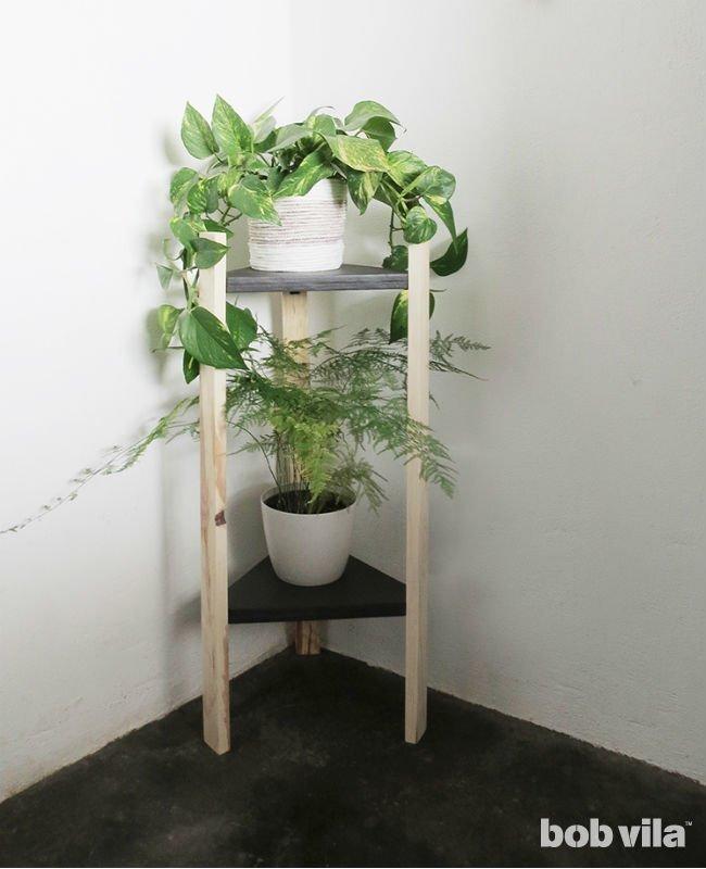 Étagère à plantes d'angle