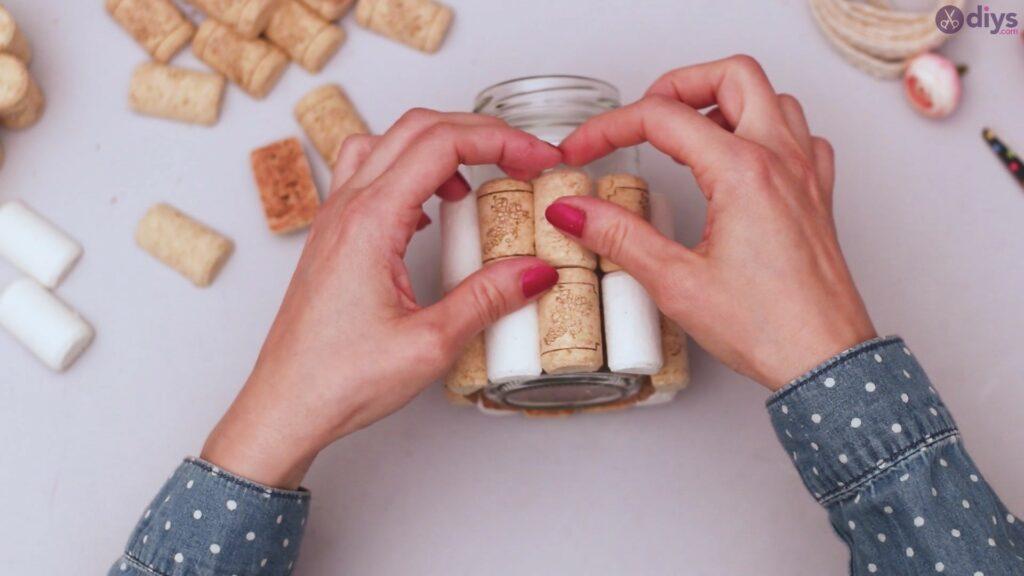 Vase à fleurs en liège à vin bricolage (14)