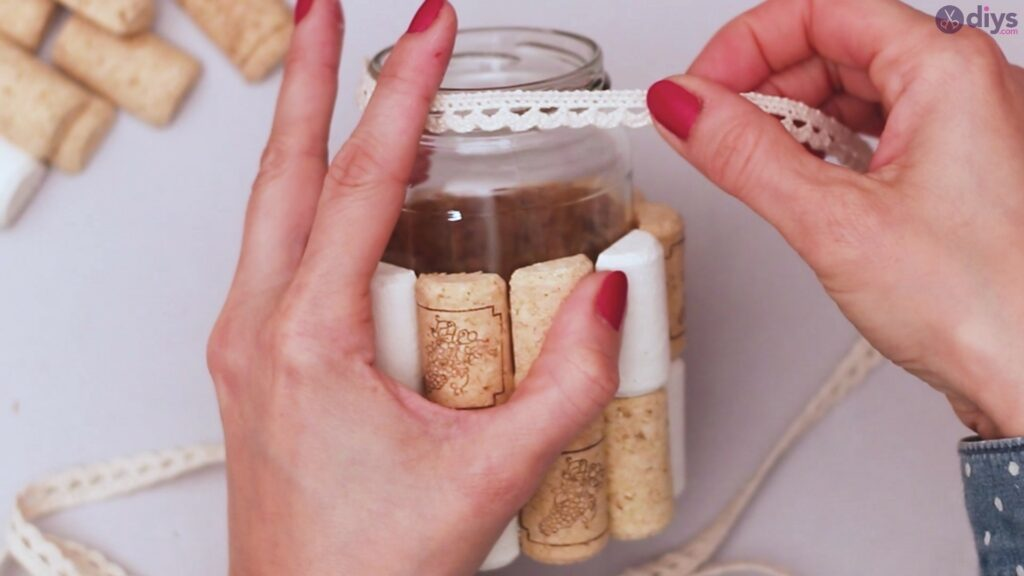 Vase à fleurs en liège à vin bricolage (18)