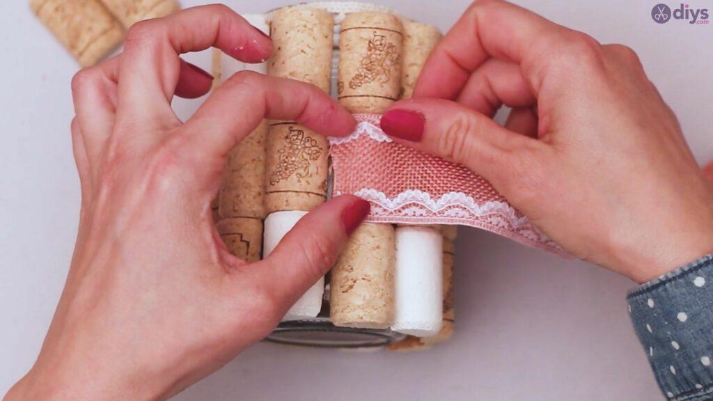 Vase à fleurs en liège à vin bricolage (29)