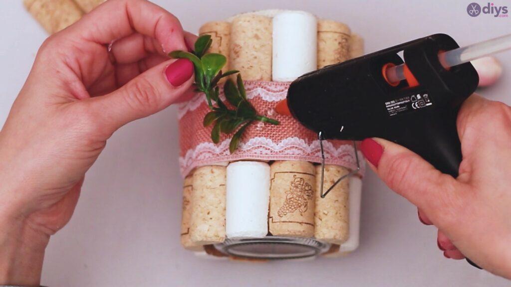 Vase à fleurs en liège à vin bricolage (38)