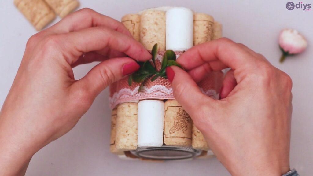 Vase à fleurs en liège à vin bricolage (39)