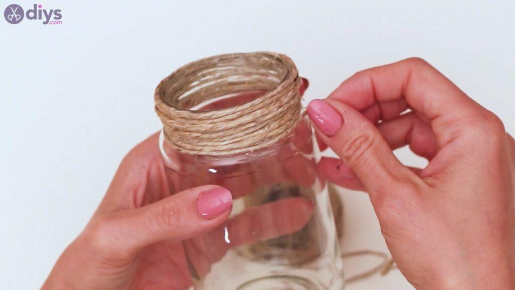 Marches de vase enveloppées de corde (10)