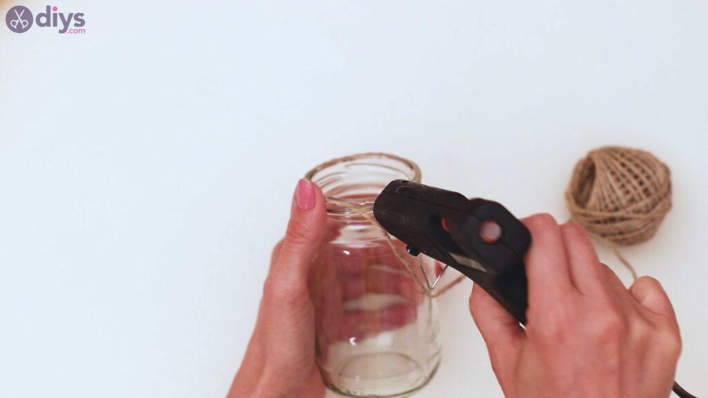 Étapes de vase enveloppées de corde (5)
