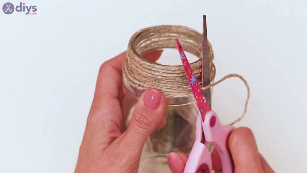 Marches de vase enveloppées de corde (11)