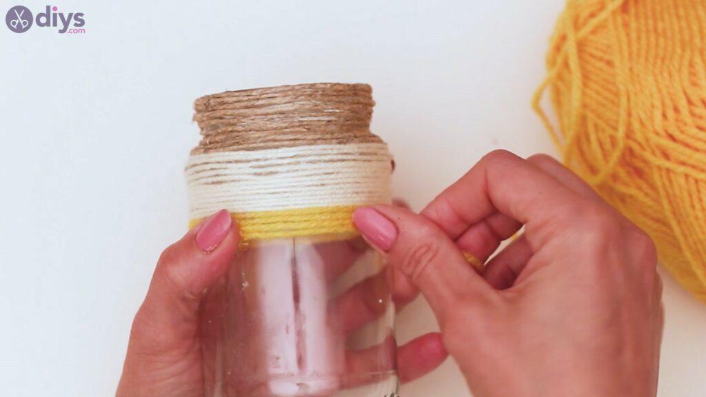 Marches de vase enveloppées de corde (24)