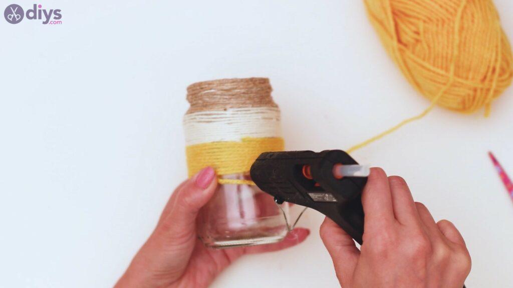 Marches de vase enveloppées de corde (25)