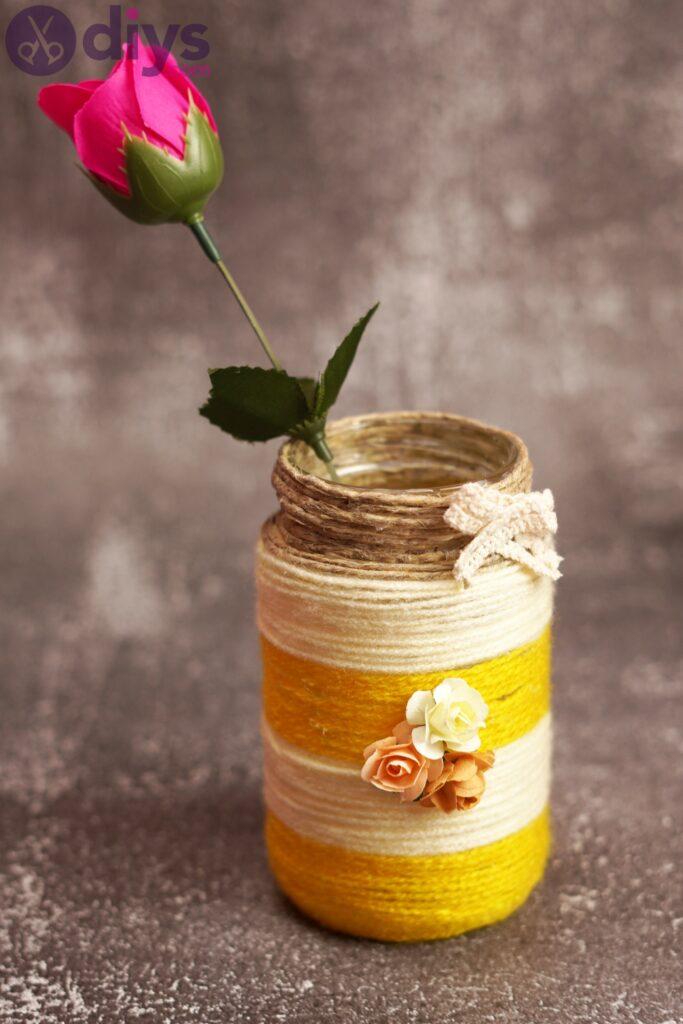 Photos de vase enveloppé de corde (3)