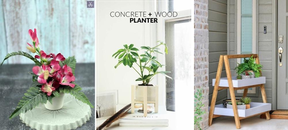 Supports de plantes de bricolage