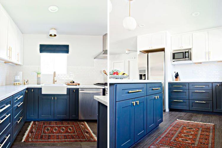 Décoration de cuisine en bleu