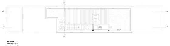 Plan de toit de petite maison étroite