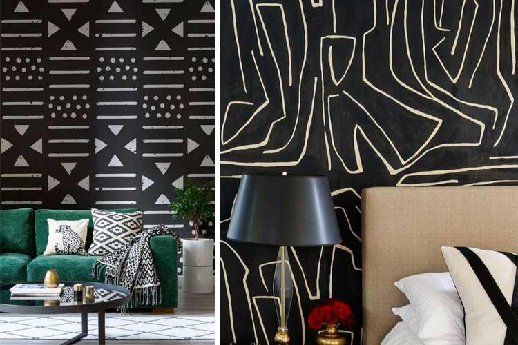 Papier peint noir en décoration