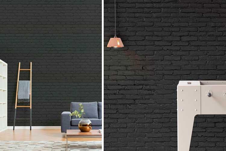 Idées pour décorer avec du papier peint noir