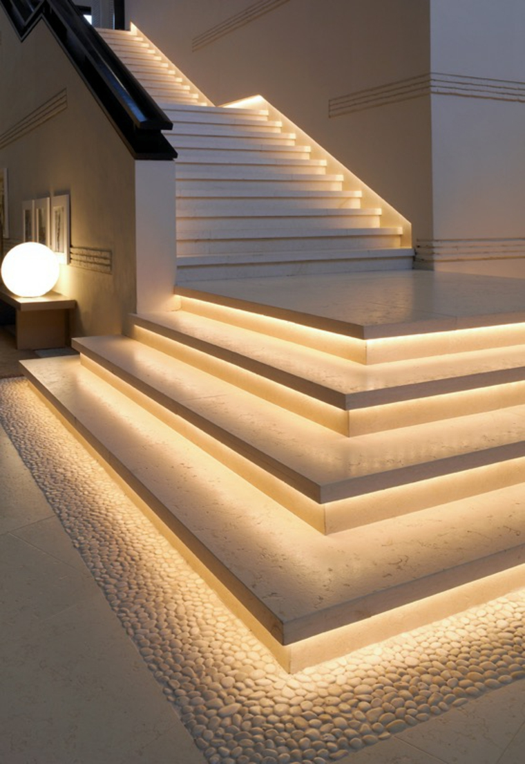 escaliers avec lumières led