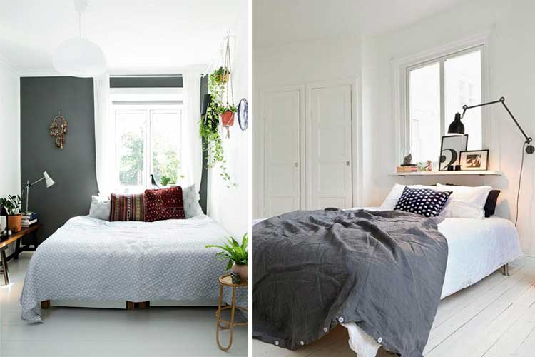 Le lit sous la fenêtre