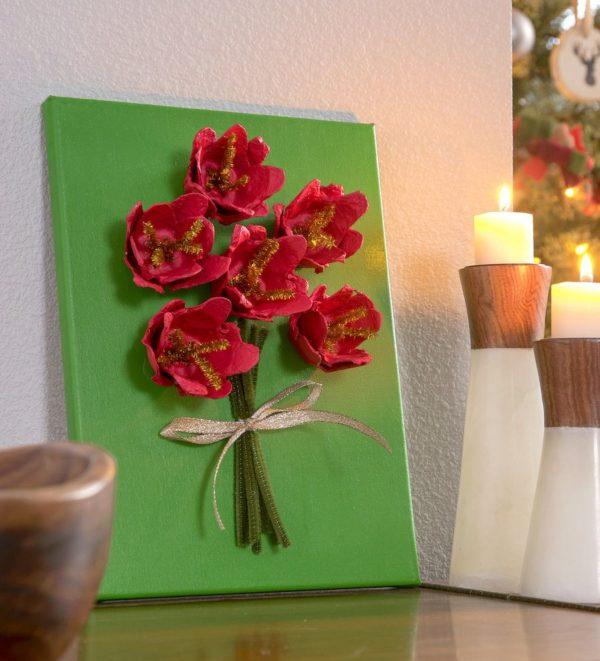 Meilleures idées pour faire des fleurs avec une décoration de livre en carton d'oeufs