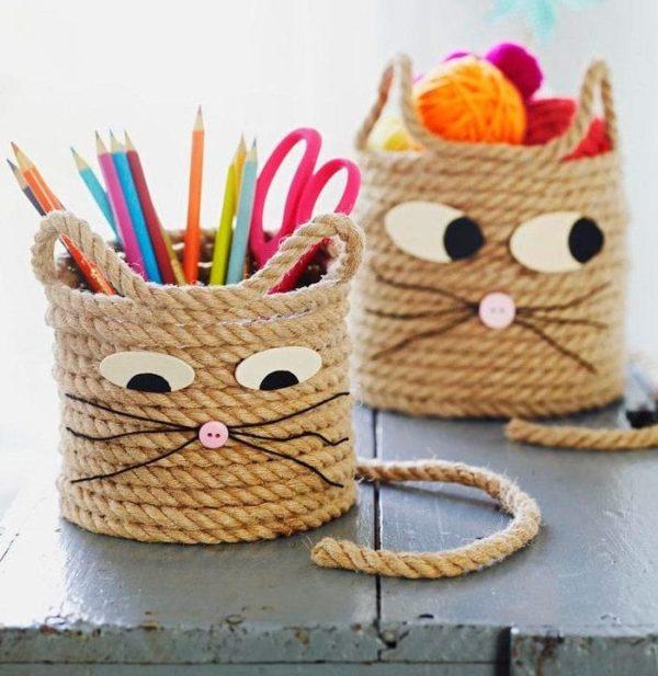 Corde de porte-crayons pour chat Best Crafts International Day