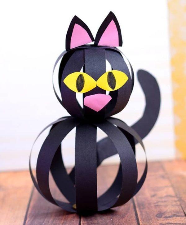 Carton de figurine de chat de la meilleure journée internationale de l'artisanat