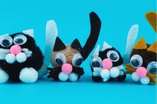 Les meilleurs pompons de chat de la journée internationale de l'artisanat