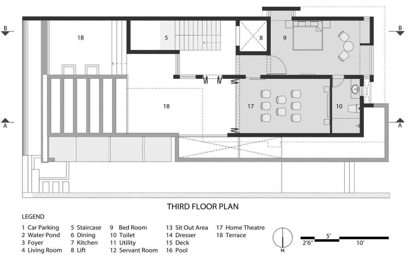 Plan de maison à deux étages niveau III