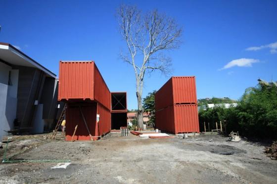 Processus constructif de la maison de conteneur