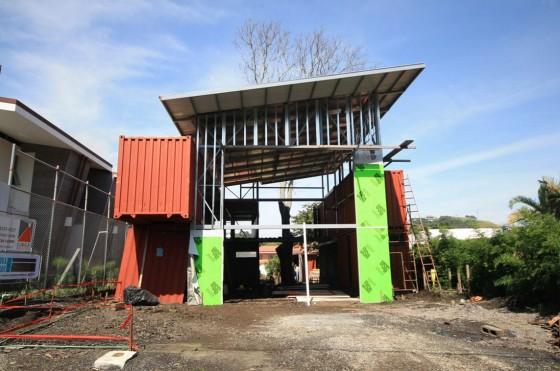 Construction de maisons avec des conteneurs recyclés