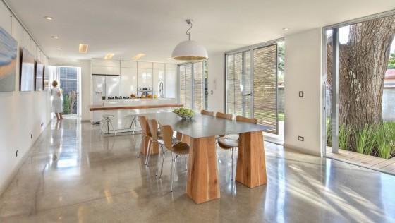 Conception de salle à manger de cuisine blanche moderne