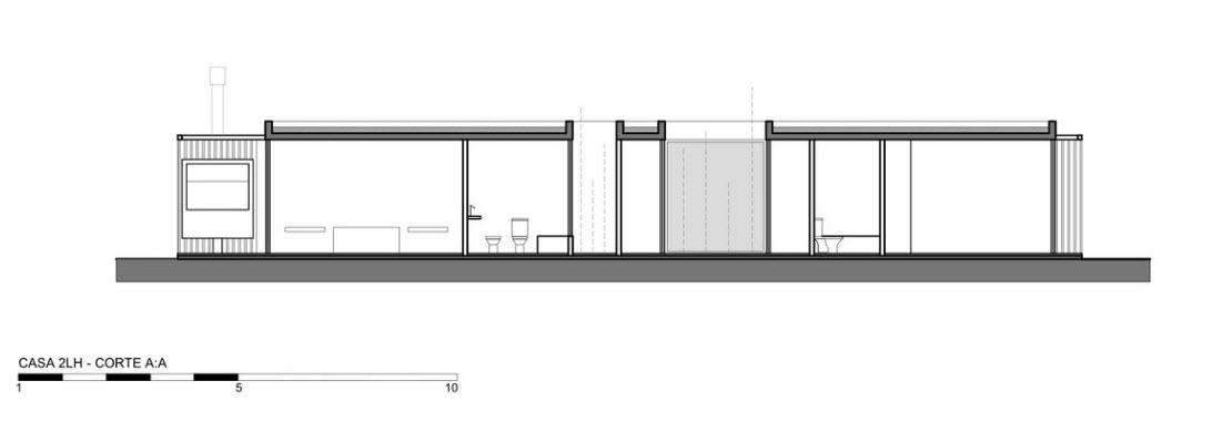 Plan de coupe maison AA un étage