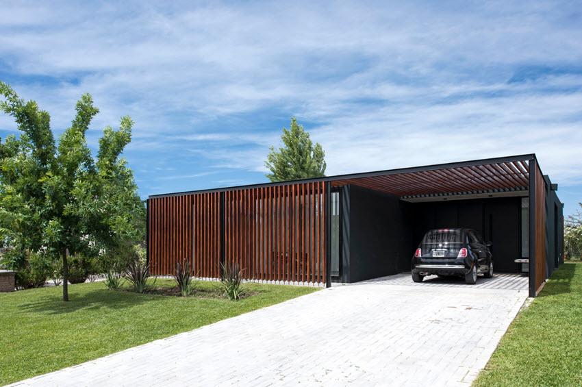 Façade de maison moderne d'un étage