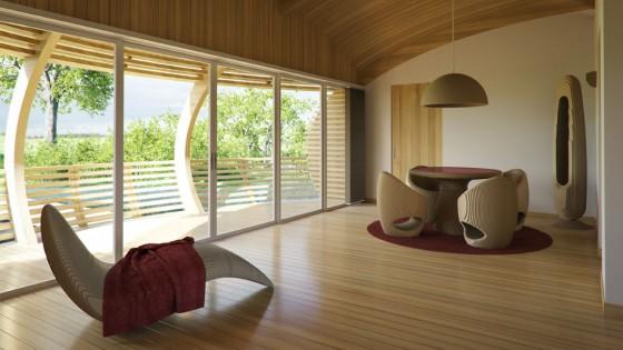 Design d'intérieur moderne avec des meubles en bois