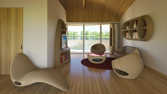 Conception de mobilier moderne et écologique