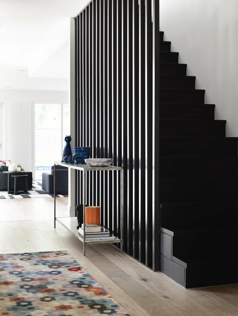Melbourne House avec un escalier noir moderne