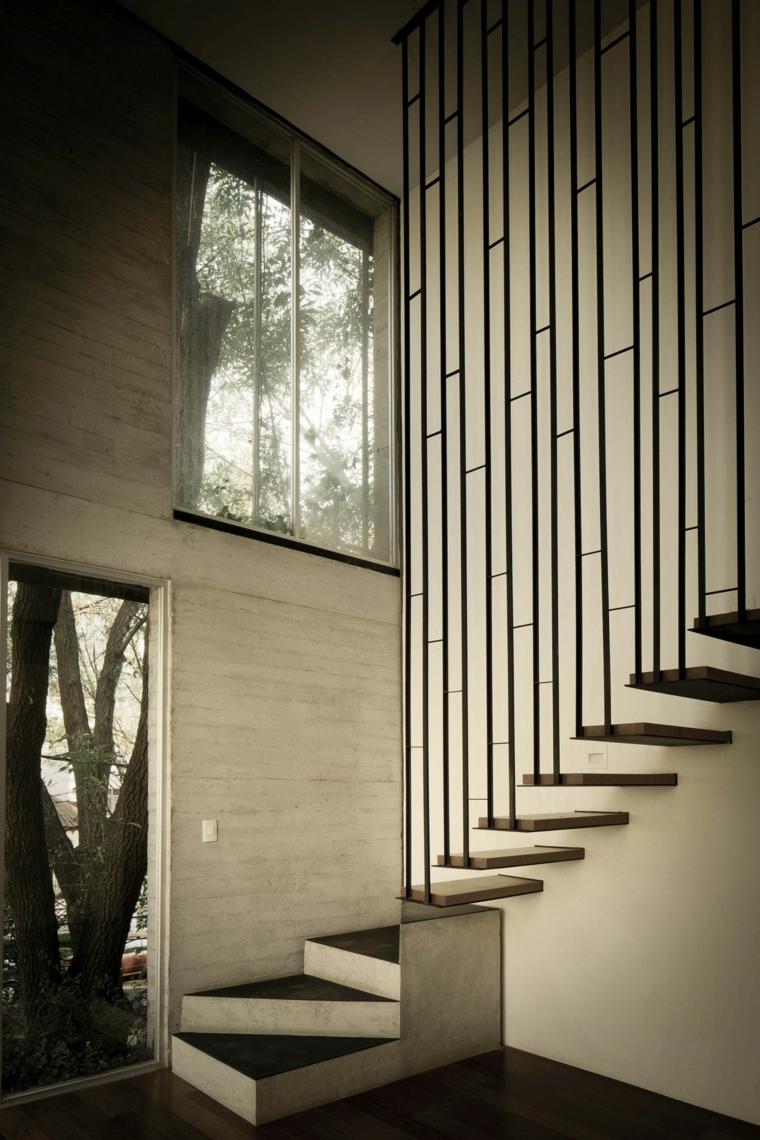 Motif géométrique pour diviseur d'escalier