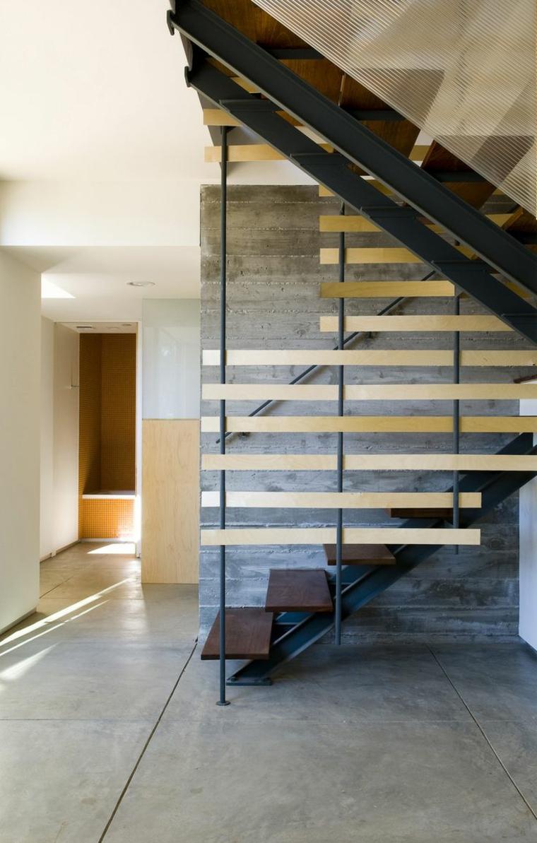 Mur d'escalier asymétrique