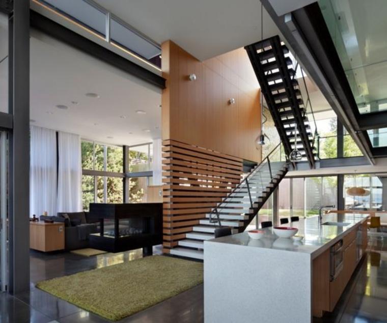 Liez l'escalier et l'écran grâce à des éléments de conception