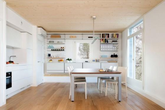 Conception de salle à manger de cuisine simple de maison écologique