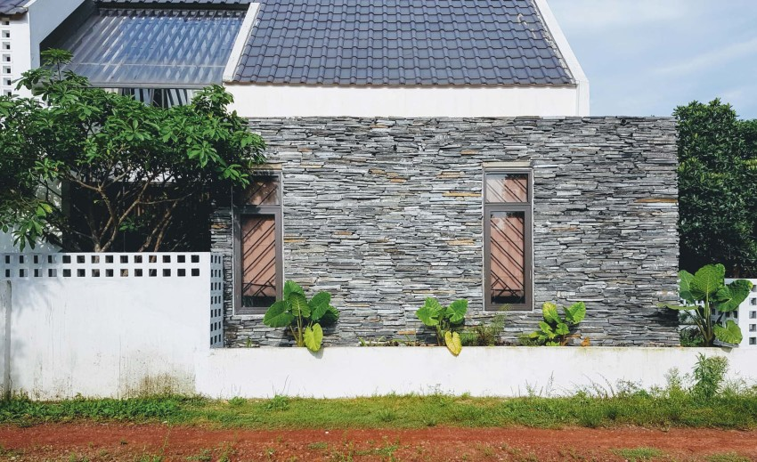 Conception de profil de petite maison à deux étages