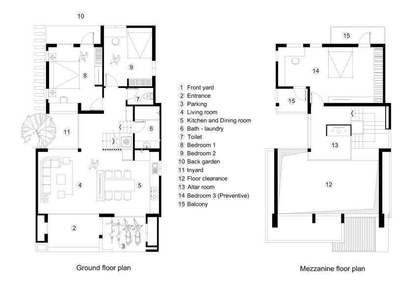 Plans de maison deux étages trois chambres