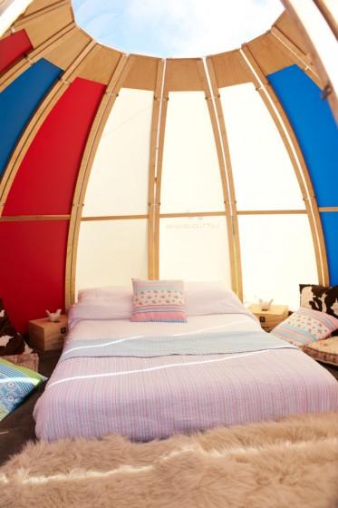 Chambre à coucher à l'intérieur du camping