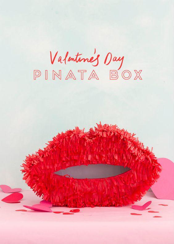 Artisanat en papier pour la Saint-Valentin: Piñatas