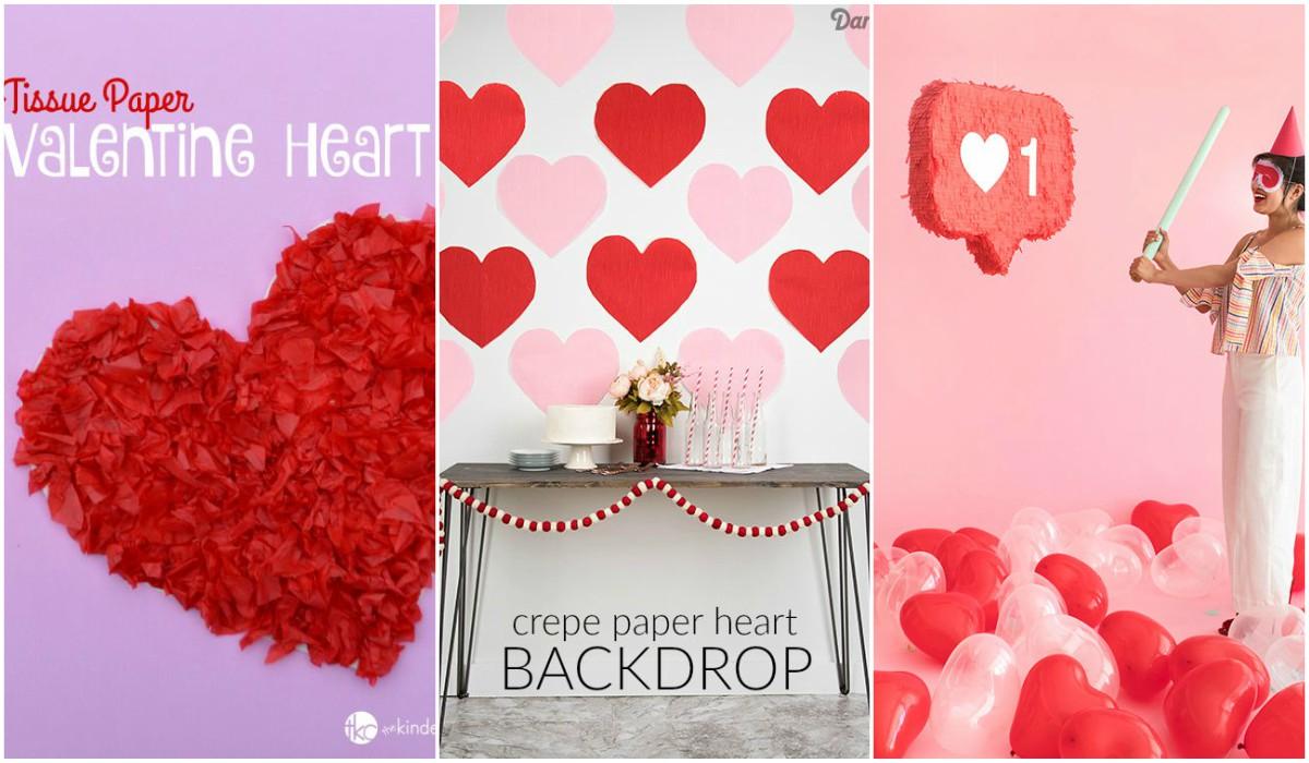 Artisanat en papier pour la Saint-Valentin