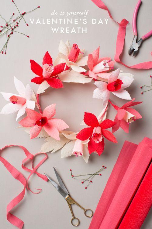 Artisanat en papier crépon pour la Saint-Valentin