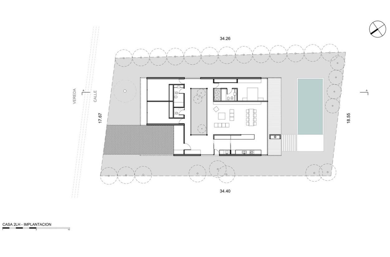 Plan maison un étage trois chambres