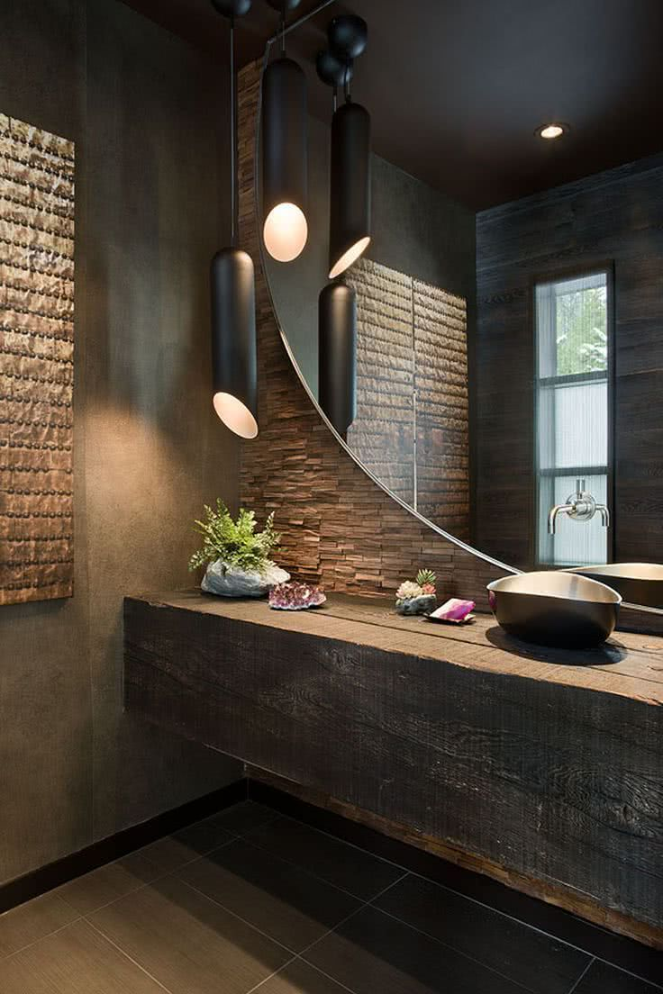 Salles de bains rustiques
