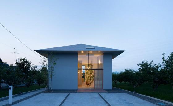 Façade de maison de style oriental