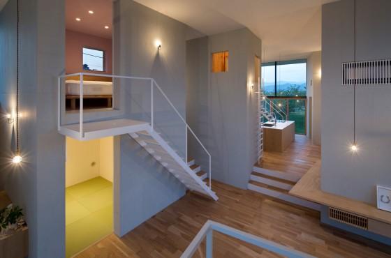 Design d'intérieur maison hauts plafonds