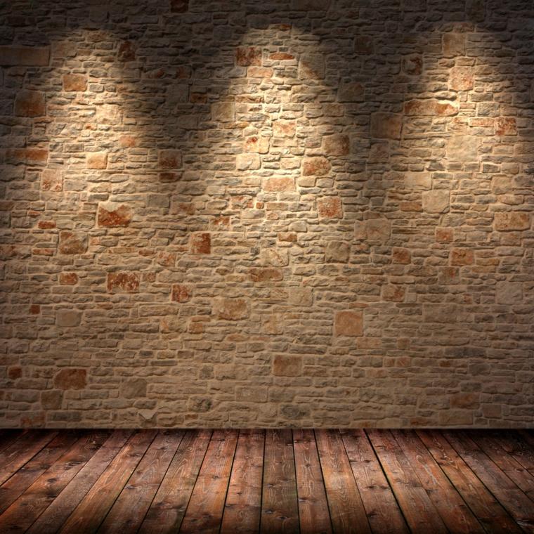 éclairage-mur-en-pierre