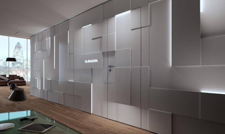 murs décorés éclairage indirect