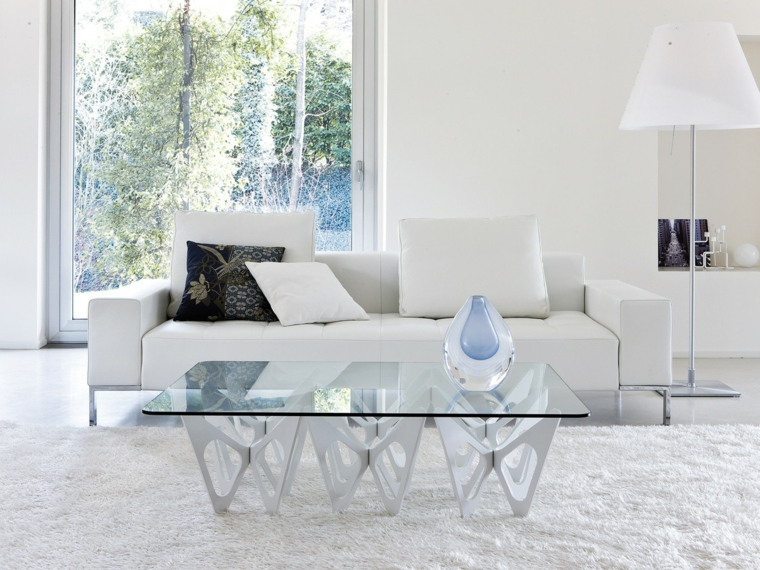 tables basses-design-salle blanche